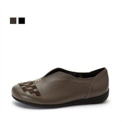 MODELSIS - Genuine Leather Slip-Ons