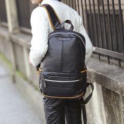BagBuzz - 配色邊仿皮背包