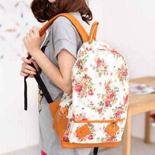 59 Seconds - Floral Pattern Backpack