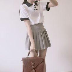 GOGO Girl - 短袖插色馬球衫