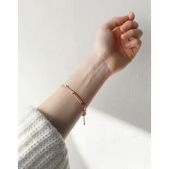 UPTOWNHOLIC - Metallic Layered Bracelet