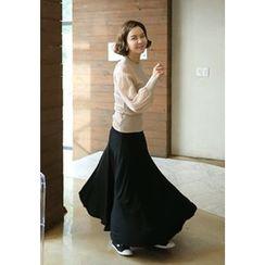 Lemite - Elastic-Waist Maxi Skirt