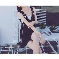 Octavia - Set: V-Neck Jumper Skirt + Bandeau