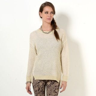 YesStyle Z - Lined Open-Knit Sweater