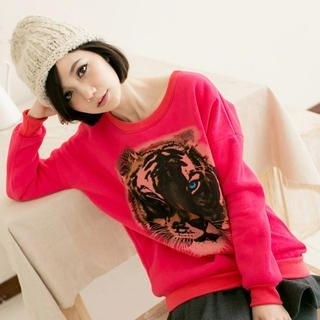 CatWorld - Tiger-Print Pullover