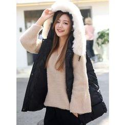 BBAEBBAE - Faux-Fur Hooded Padded Vest
