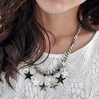 BAIMOMO - Star-Accent Rhinestone Necklace