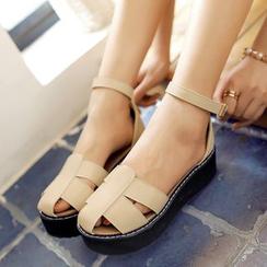 Shoes Galore - Ankle Strap Platform Sandals