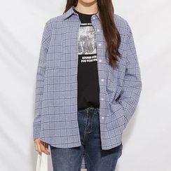 Heynew - Check Long-Sleeve Shirt