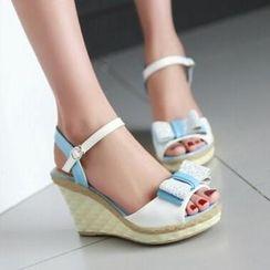 Tomma - 蝴蝶结饰船跟凉鞋
