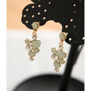 Petit et Belle - Rhinestone Drop Earrings