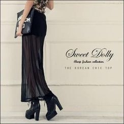 Sweet Dolly - Sheer Maxi Skirt