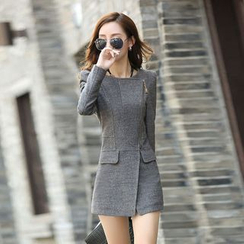 Yvette - Asymmetric Zip Coat