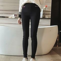 Little V - Fleece-Lined Skinny Pants