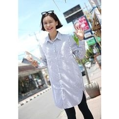 Lemite - Striped Tunic Shirt