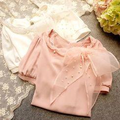 米蟲の小屋 - 飾結珍珠襯衫