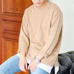 Seoul Homme - Layered-Hem Pullover