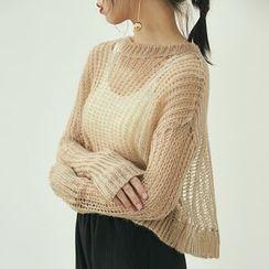 HORG - Crochet Knit Top