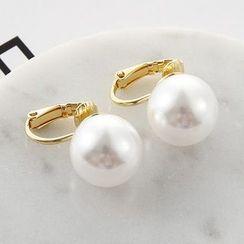 Oohlala! - Faux Pearl Clip-On Earrings