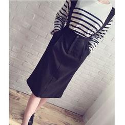 Pluvio - High Waist Suspender Skirt