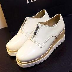 CITTA - Zip Front Platform Loafers