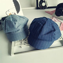 Milliner - Pinstriped Beret Hat