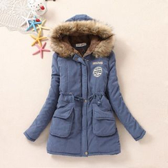 Fairyland - Faux Fur Trim Hooded Parka