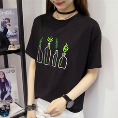 Fairy Essential - Embroidered Short-Sleeve T-Shirt