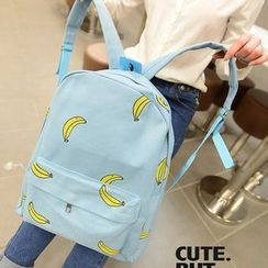 QeQ - Printed Canvas Backpack
