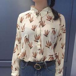 Cloud Nine - Printed Long-Sleeve Shirt