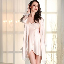 Sophine - Set: Satin Night Dress + Robe