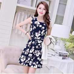 Loverac - Floral Sleeveless Dress
