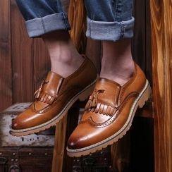 Hipsteria - 雕花休閒内增高牛津皮鞋