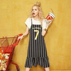ELF SACK - Striped Printed Jumper Dress