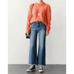 UPTOWNHOLIC - Frey-Hem Boot-Cut Jeans