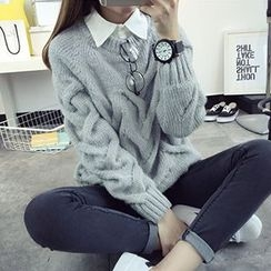FR - Cable Knit Chunky Sweater
