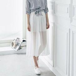 LULUS - Chiffon Maxi Skirt