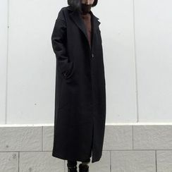 Shelby - Notched-Lapel Buttoned Coat