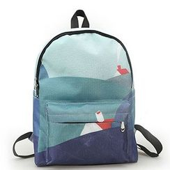 Sweet City - Print Canvas Backpack