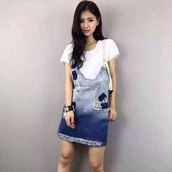 Sugar Town - Denim Jumper Skirt