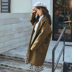 Ashlee - Woolen Long Coat