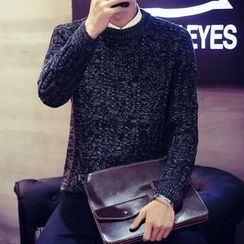 Harvin - Melange Cable Knit Sweater