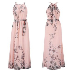 HOTCAKE - Sleeveless Floral Maxi Dress