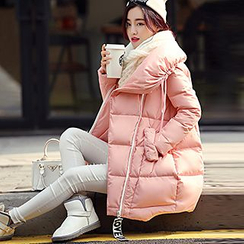 Romantica - Drawstring Puffer Padded Coat