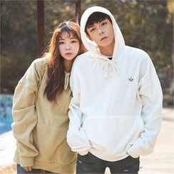 Superstar.i - Couple Hooded Appliqué Fleece Pullover