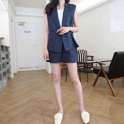 Hello sweety - Linen Blend Vest