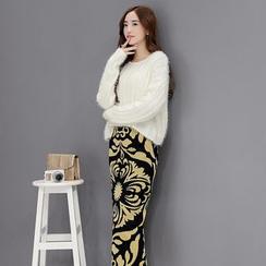 Romantica - Set: Sweater + Printed Midi Skirt