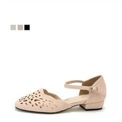 MODELSIS - Perforated Mary Jane Pumps