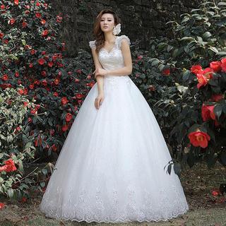 Royal Style - Diamante Sleeveless Wedding Ball Gown