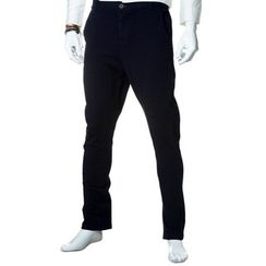 YesStyle M - Button-Front Slim-Fit Pants